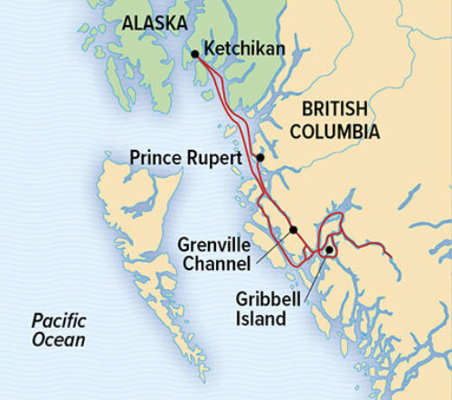 Lindblad Great Bear Rainforest itinerary